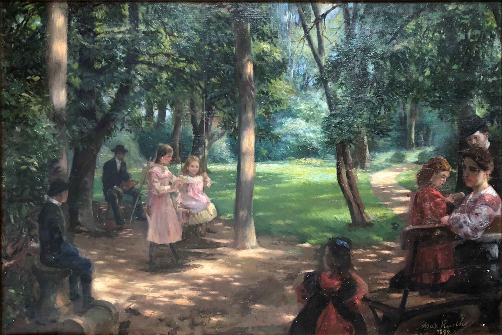 Foto 1_Max Kurth_Skupinový portrét v záhrade_1899
