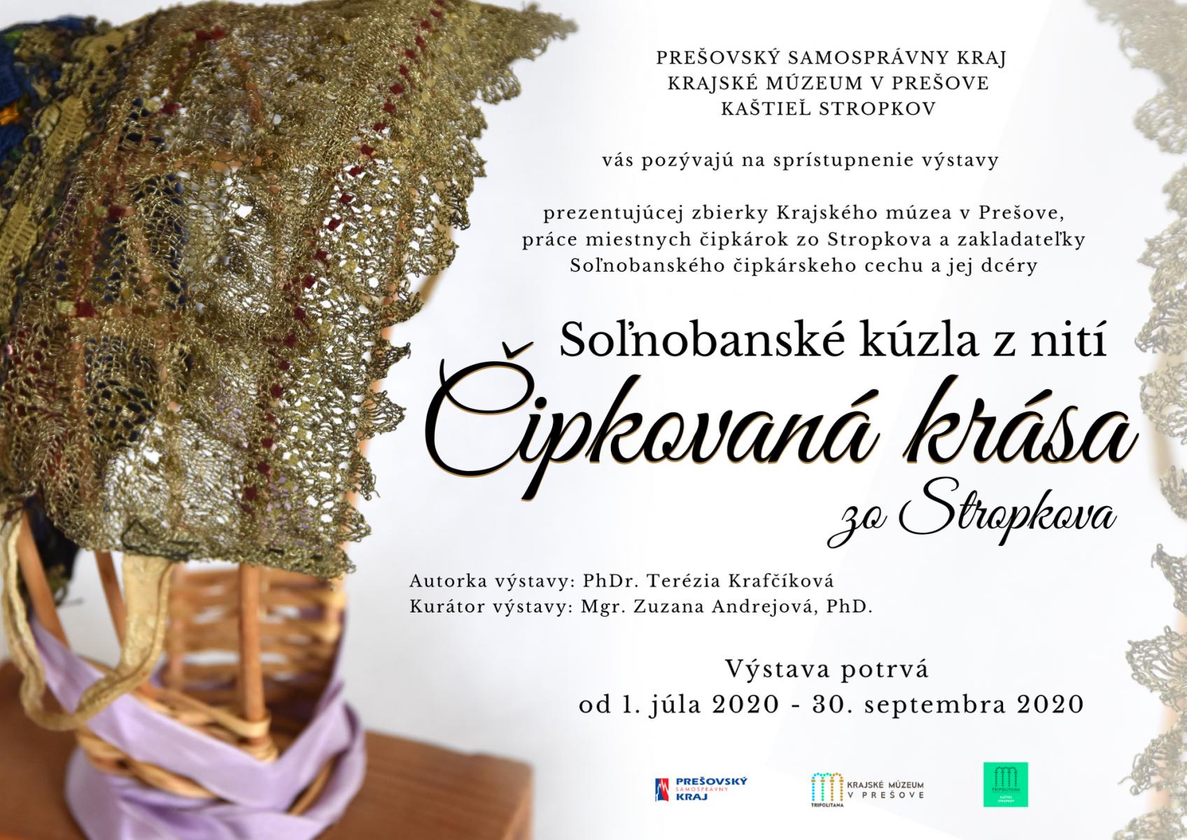 Pozvánka-výstava Soľnobanské kúzla z nicí a - Čipkovaná krása zo Stropkova